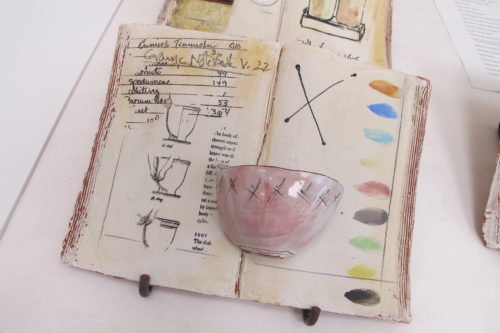 """Notebook,"" by Berkeley ceramicist Nancy Selvin. Photo by Barbara Newhall"