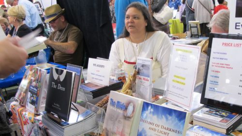 Kim Sigafus, Native American, author of Native American literary fiction at Twin Cities Book Festival, Minneapolis Minnesota. Photo by Barbara Newhall