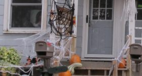 Are my ancestral ghosts haunting this Halloween house in Red Wing MN? Photo by Barbara Newhall
