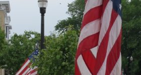 patriotic holiday gifts might include an American flag like this one in Pentwater, MI. Photo by Barbara Newhall