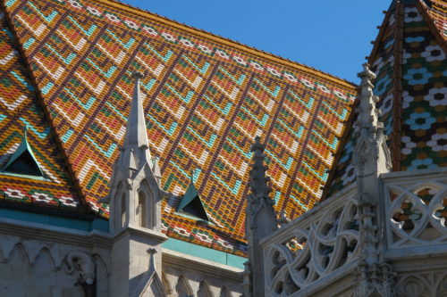 The roof of Budapest's Matthias Church was added in the late 19th century. Photo by Barbara Newhall