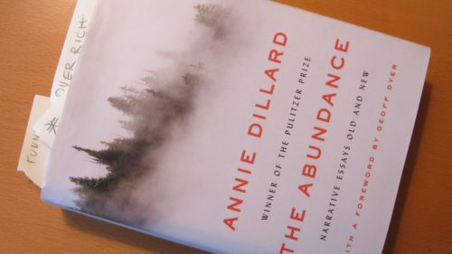 "A well-read copy of""The Abundance"" by Annie Dillard. Photo by Barbara Newhall"