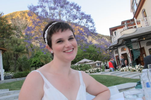 The bride was beautiful. Christina Newhall on her wedding day. Photo by Barbara Newhall