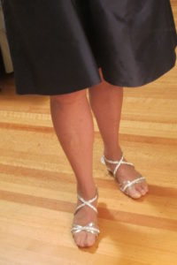 My daughter's wedding: The pretty good legs of a 75-year-old woman. Photo by Barbara Newhall